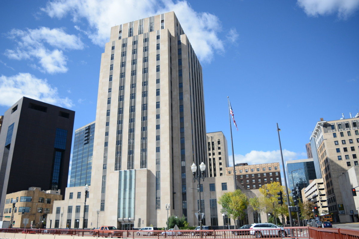 The Ramsey County Courthouse.