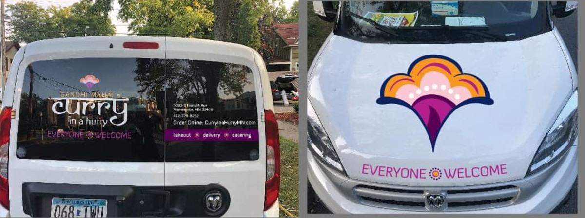 Curry in a Hurry's van.