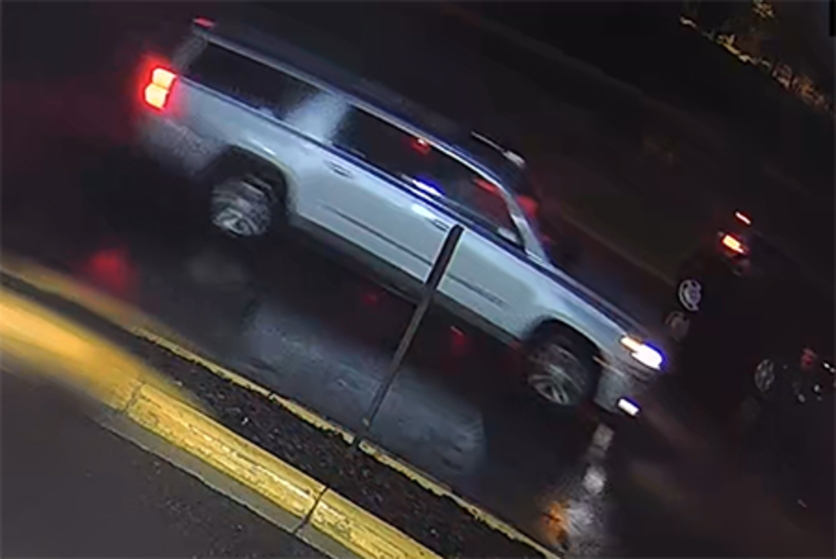 A photo of the suspect's SUV.