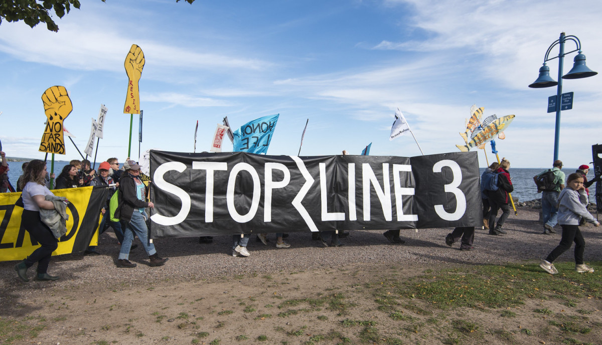 Line 3 protest