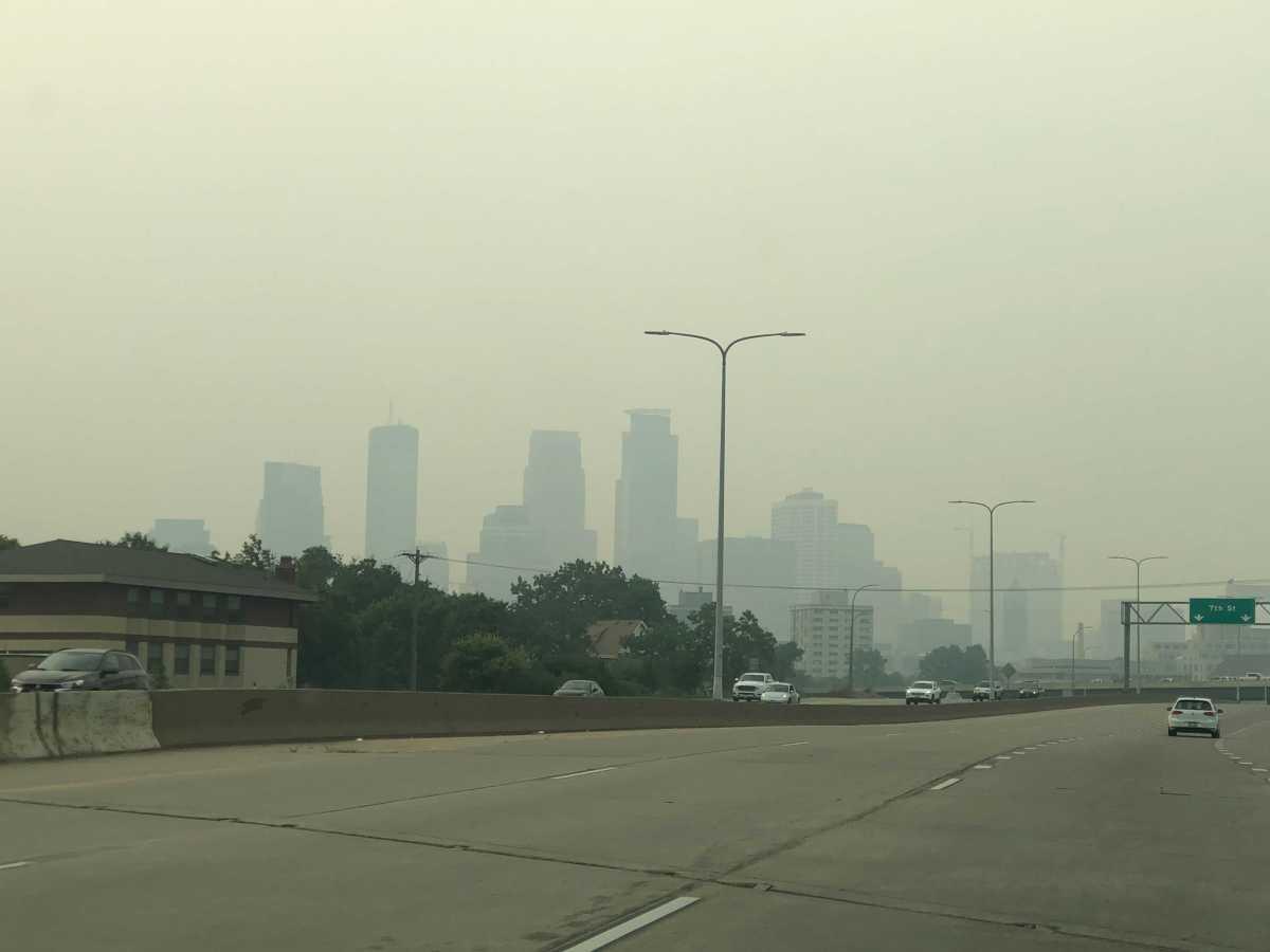 Smoke and haze Minneapolis