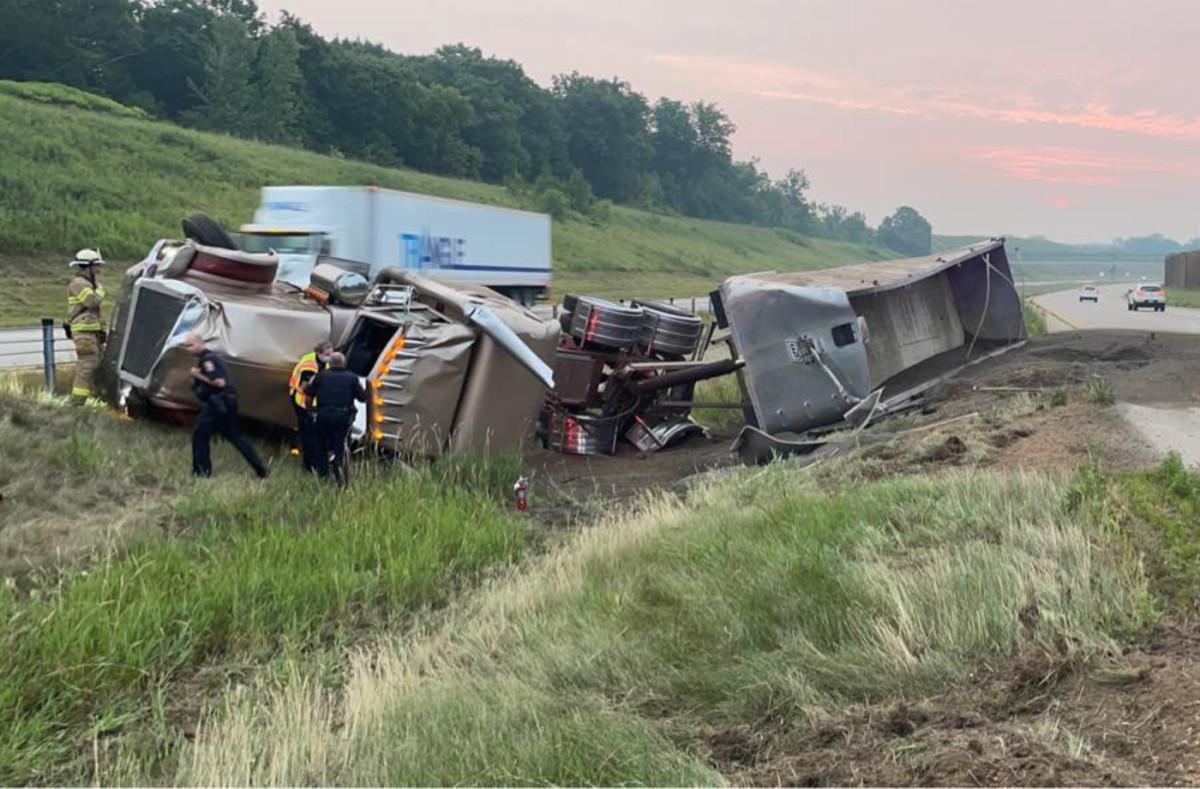 Facebook - semi crash july 30 2021 Hwy 212 - Chaska Police Department
