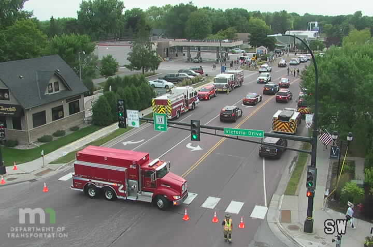 A MnDOT traffic camera near the scene of the crash Saturday afternoon.