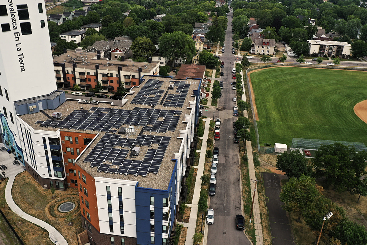 Riverton Solar Installation - Brook Avenue Housing co-op