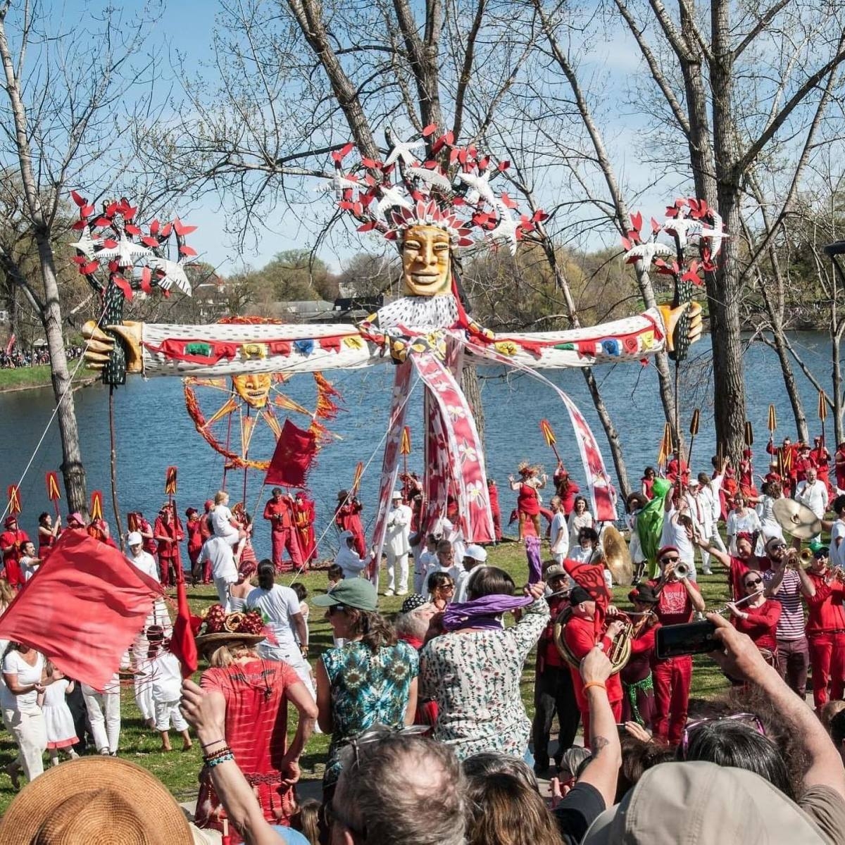 Tree of Life ceremony at Powderhorn Park in 2018.