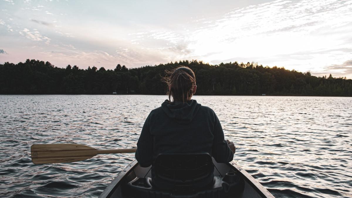 Pexels - woman canoe lake minnesota