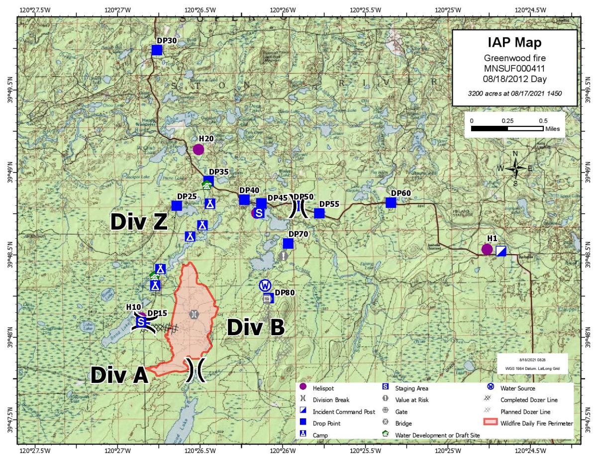 USFS - Greenwood FIre map - Aug 18 2021