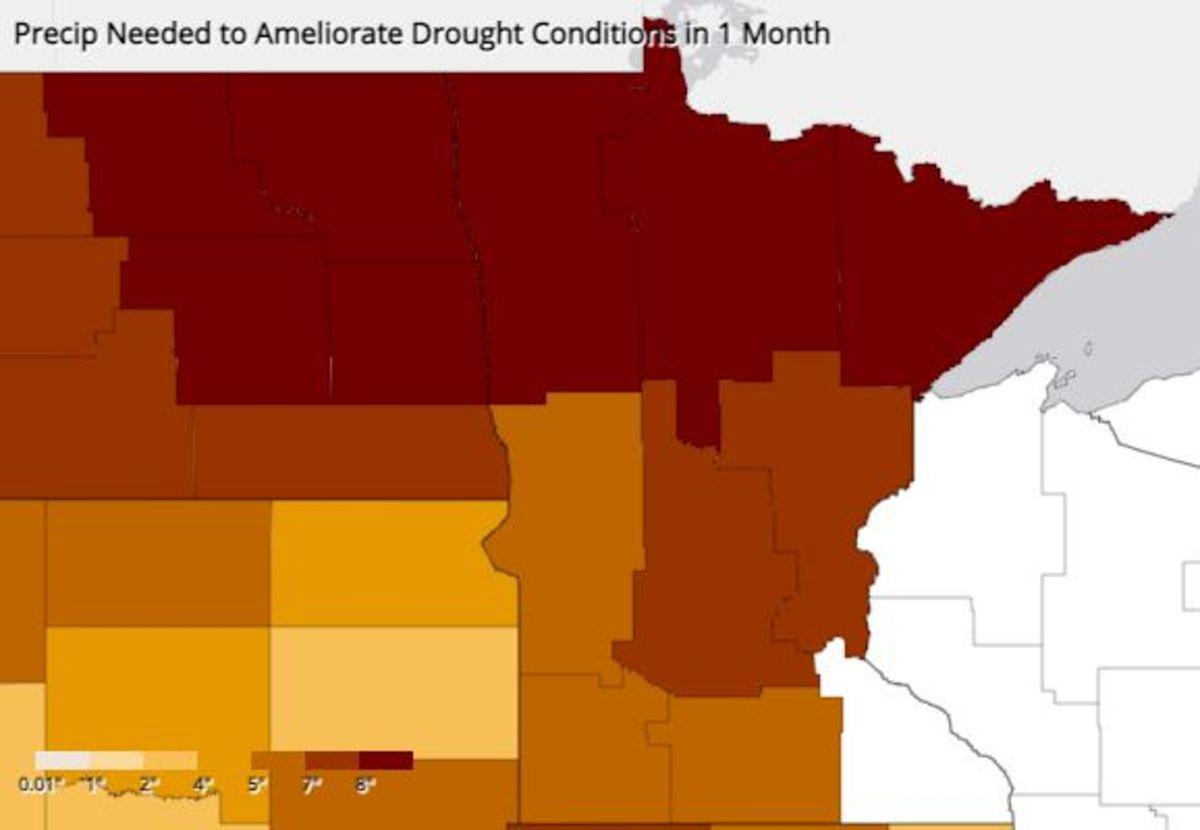 Drought conditions - precip to end - NOAA Aug 18 2021