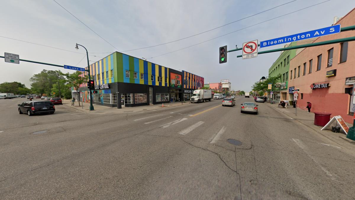 E Lake St & Bloomington Ave, Minneapolis, MN 55407, USA - June 2019