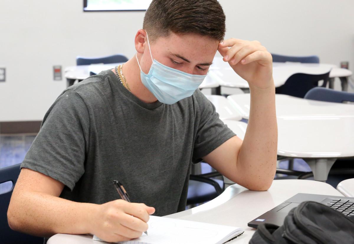 Flickr - child teenager school mask covid - Jill Carlson