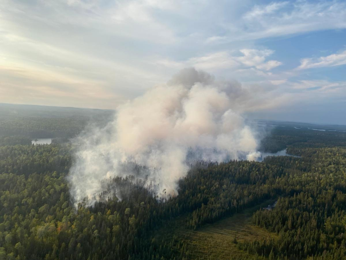 Smoke from the John Ek fire, Aug. 20, 2021
