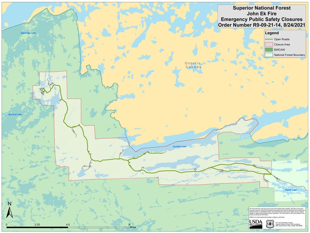 gunflight forest fire map closures