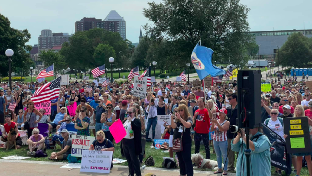 """""""Medical freedom rally"""" in St. Paul"""