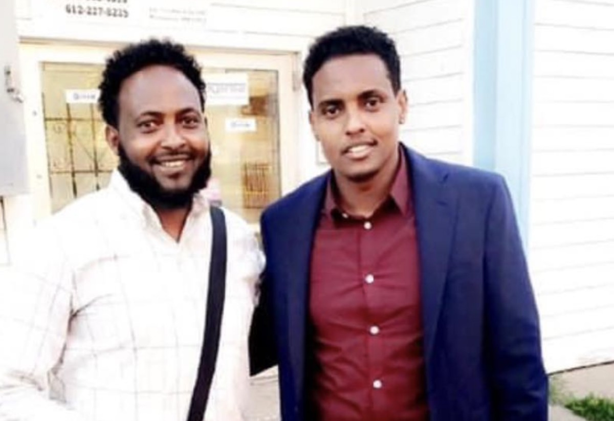 Jamal Osman, pictured right with his brother, Liban.